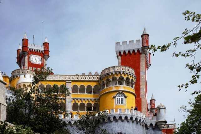 """I just love the colors of Pena Palace. - """"Pena Palace: Sintra's Fairytale Castle"""" - Two Traveling Texans"""