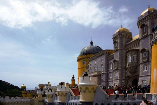 """Plenty to explore on your visit to Pena Palace. - """"Pena Palace: Sintra's Fairytale Castle"""" - Two Traveling Texans"""