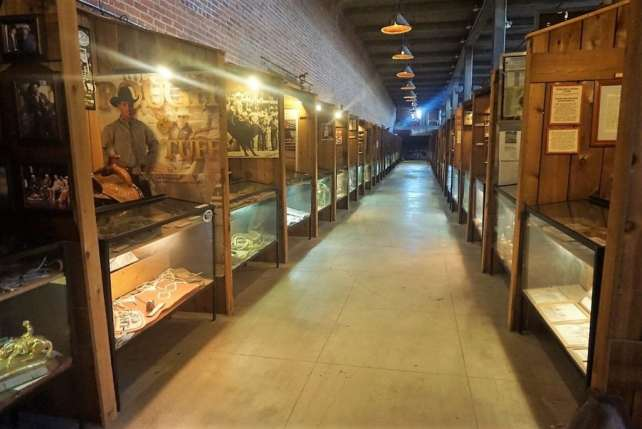 """One of the rows dedicated to the members of the Texas Cowboys Hall of Fame. - """"Fort Worth Stockyards: Learn About the Old West"""" - Two Traveling Texans"""