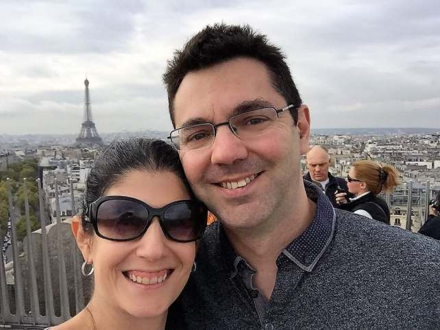 """Selfie on top of the Arc De Triomphe in Paris - """"Moving To England: How and Why I Did It!"""" - Two Traveling Texans"""