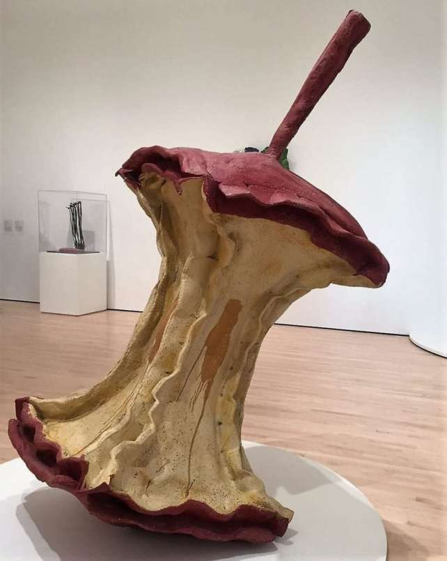 """""""Geometric Apple Core"""" by Claes Oldenburg and Coosje van Bruggen - """"SFMOMA: Modern Art in a New Setting"""" - Two Traveling Texans"""