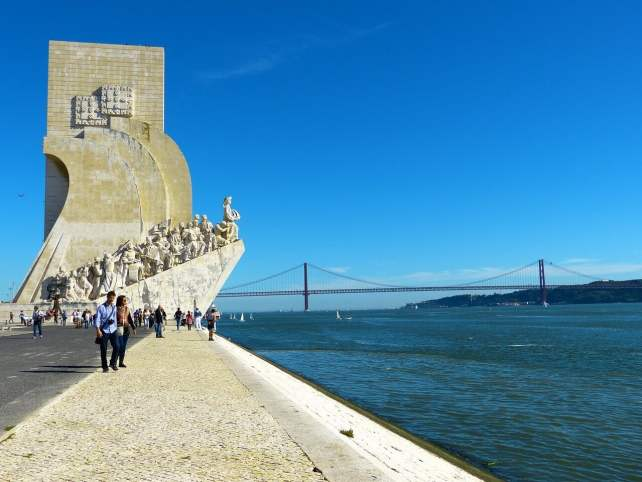 """The Monument of Discoveries is right on the edge of the Tagus River. - """"The Best Things to Do in Belem (Lisbon)"""" - Two Traveling Texans"""