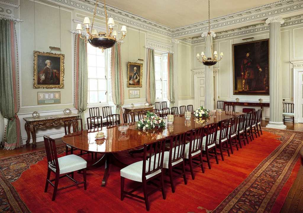 Neat to see where the Royal Family dines! - Image Credit: Royal Collection Trust / © Her Majesty Queen Elizabeth II 2018 - Inside Holyrood Palace - Two Traveling Texans