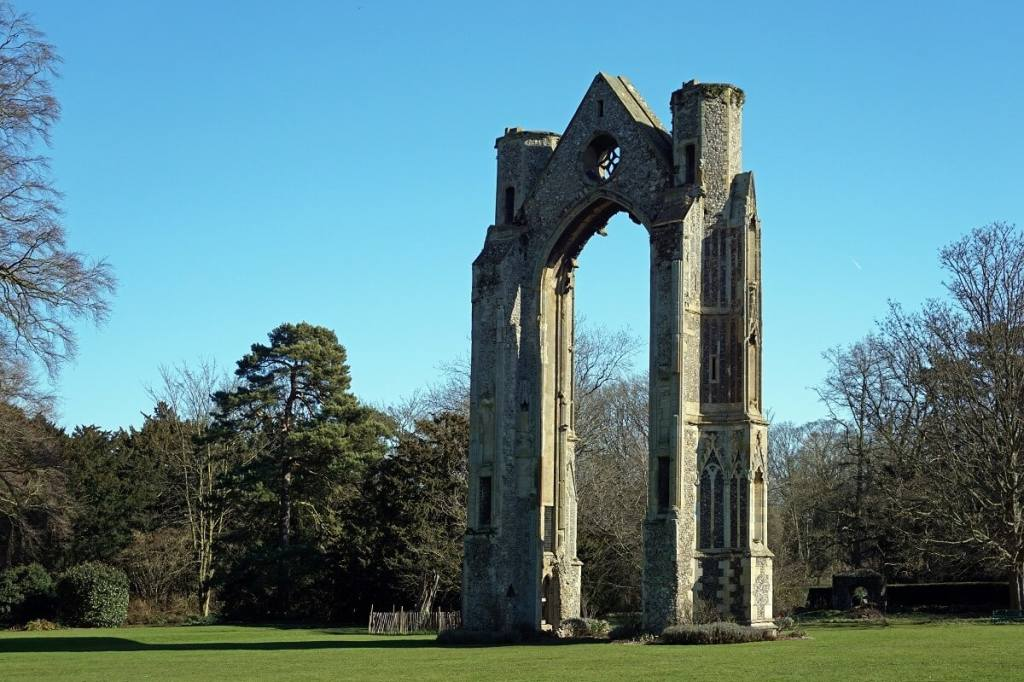 """The little that is left of Walsingham Abbey, is pretty impressive. - """"Walsingham Pilgrimage and Snowdrops"""" - Two Traveling Texans"""
