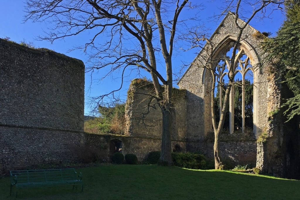 """More of the ruins at Walsingham Abbey. - """"Walsingham Pilgrimage and Snowdrops"""" - Two Traveling Texans -"""