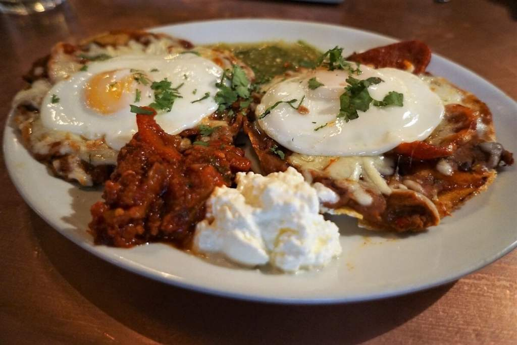 The huevos rancheros at the Blues Kitchen was delicious! - The Best Restaurants in Shoreditch - Two Traveling Texans