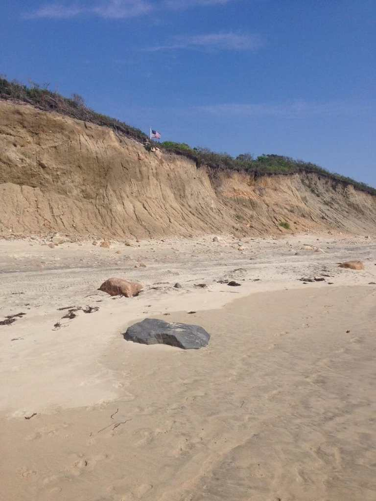 """There are some impressive cliffs on Block Island. - """"Block Island Ferry and Travel Guide"""" - Two Traveling Texans"""