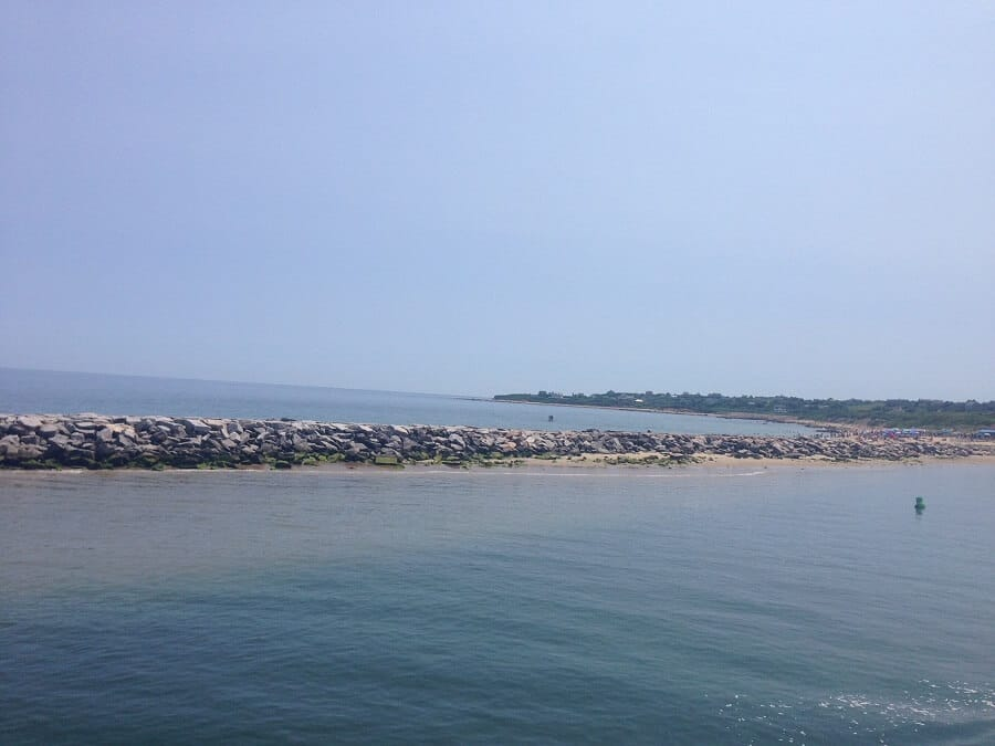 """The view from the ferry as we approached Block Island- """"Block Island Ferry and Travel Guide"""" - Two Traveling Texans"""