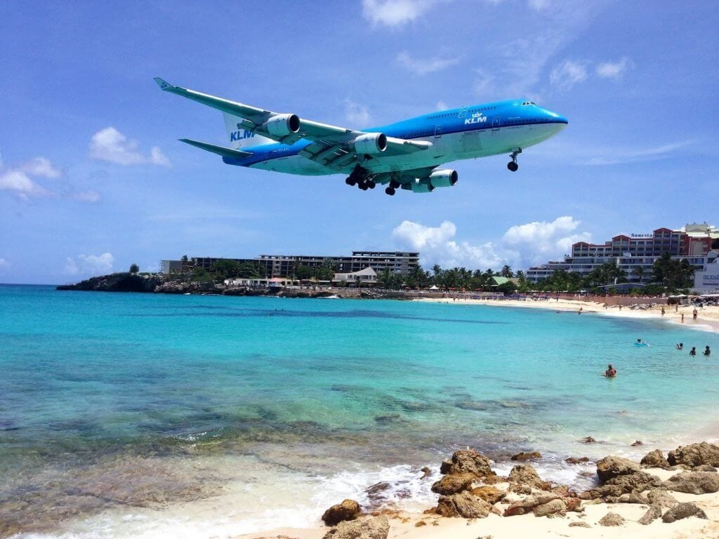 """Get up close and personal with airplanes! - """"Maho Bay: Plane Spotting in St. Maarten"""" - Two Traveling Texans"""