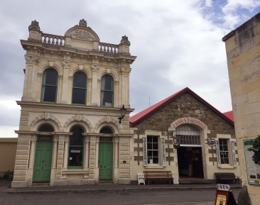 Harbour Board Building and the Dutch Bakery in Oamaru