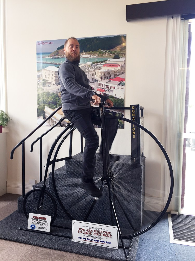 A spontaneous ride on a Penny-farthing in the Tourist Center