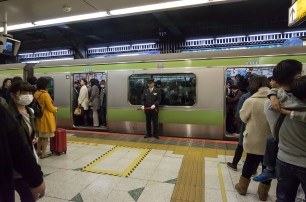 Yamanote line is famous for being busy