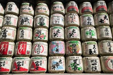 Sake brewers donate sake to the Meiji Jingu