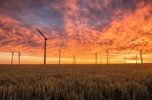 Wind Energy Sunset