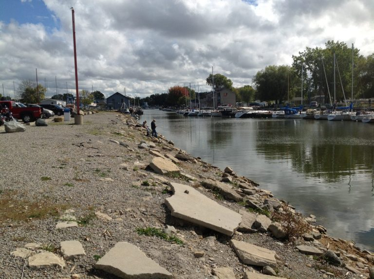 Caseville Harbor During Low Water in 2012