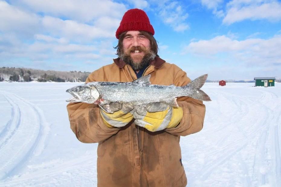 Man With Frozen Walleye