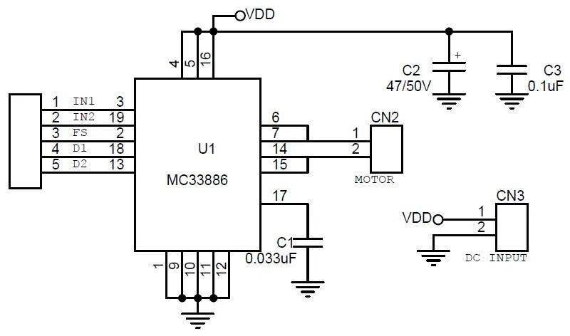 5A Brushed DC Motor Driver H-Bridge Module (1)