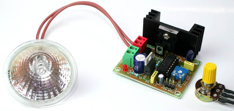 High Current PWM Halogen Lamp Dimmer Using SG3525