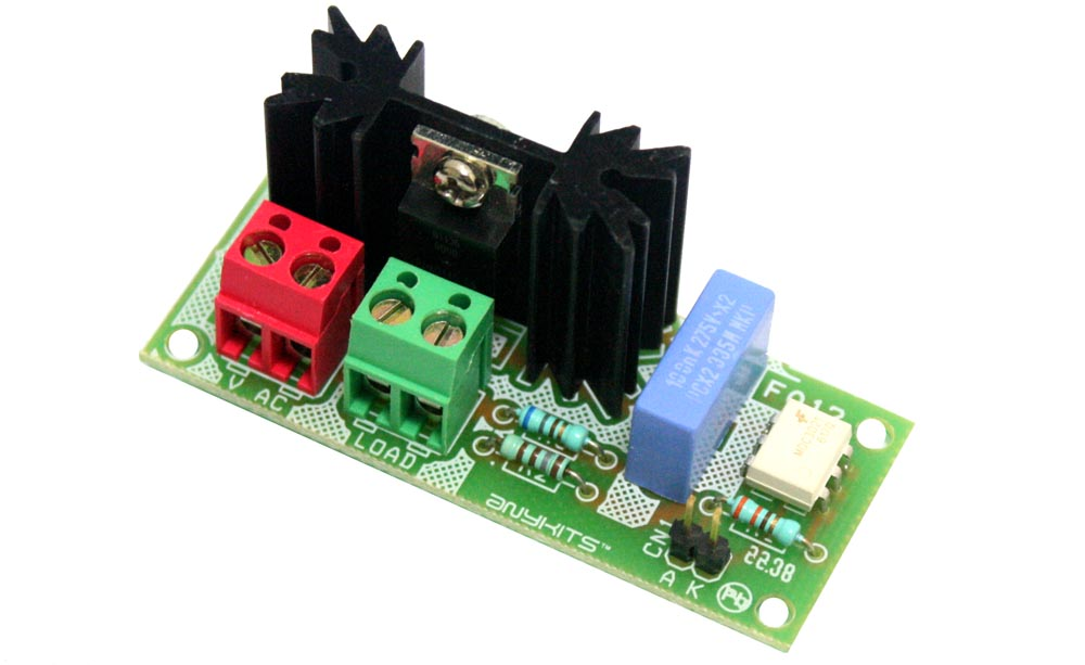 Solid State AC Relay Descreet Circuit Using Traic (1