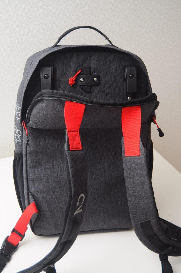 Pannier Backpack Back Unzipped