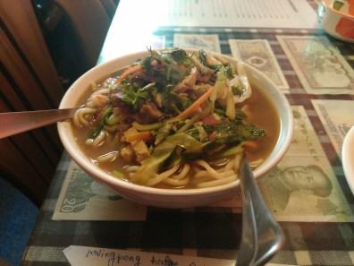 Mutton Thukpa soup