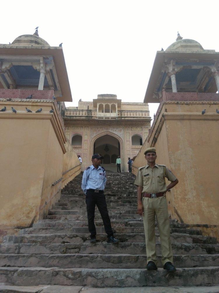 At the entrance of Amer Palace