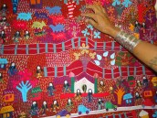 Katab, the Kachchhi name for both direct and reverse appliqué. The quilts constituted an important dowry item.