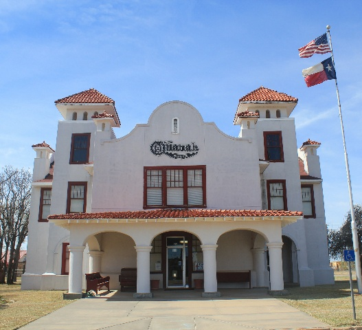 The beautiful Depot Museum right behind Hardeman County Jail Museum.