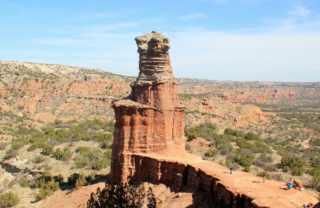 Camping & Hiking Around Texas Panhandle: The iconic Lighthouse: Palo Duro Canyon SP: Two Worlds Treasures