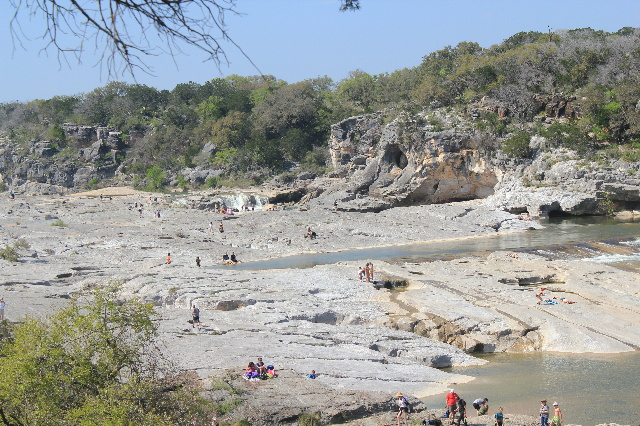 Pedernales Falls State Park: a view from the overlook: Two Worlds Treasures
