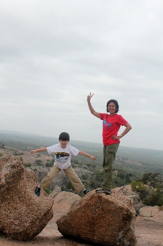 Enchanted Rock - mother & son - Two Worlds Treasures