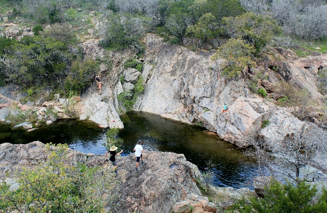 A path to Devil's Hole at Inks Lake State Park - Texas Hill Country - Two Worlds Treasures