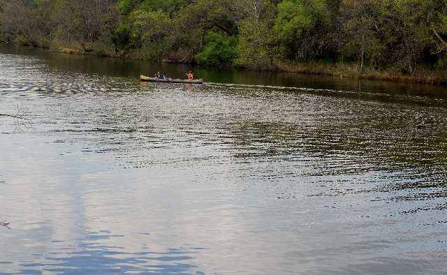 Canoeing around Devil's Hole at Inks Lake State Park - Texas Hill Country - Two Worlds Treasures