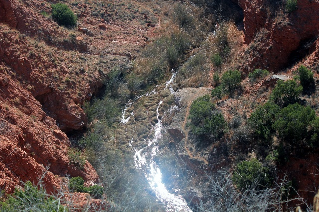 A creek down the Holmes Creek Canyon at Caprock Canyons SP, TX.