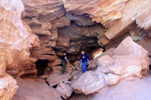 Tunnel under the Natural Bridge at Caprock Canyons SP, TX.