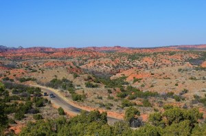 A scenic view of Caprock Canyons SP, TX.