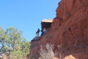 They reached the highest point of the rock they could climb, Caprock Canyons SP, TX.