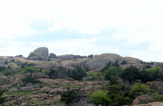 Wichita Mountains Wildlife Refuge: boulders at the end of Elk Mountain Trail.