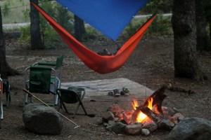 Wichita Mountains Wildlife Refuge: Campfire at Doris Campground.