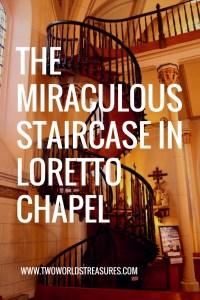 THE MIRACULOUS STAIRCASE IN LORETTOCHAPEL - SANTA FE, NEW MEXICO.