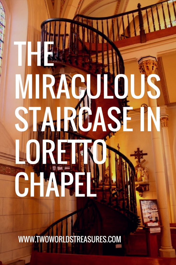 THE MIRACULOUS STAIRCASE IN LORETTOCHAPEL - SANTA FE, NEW MEXICO.