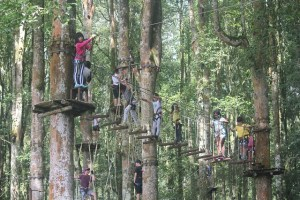 Visiting Bali with a 10-year-old boy: Bali TreeTop: Flying Swings