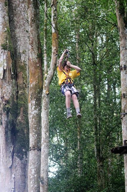 Visiting bali with a 10-year-old boy: Bali TreeTop: zip-lining