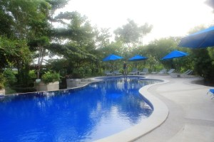 Two Worlds Treasures - a pool at Puri Sari Hotel, Labuan Bajo, Flores.