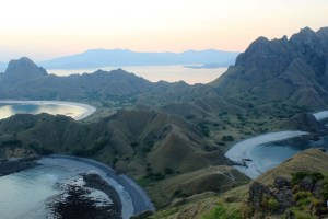 Two Worlds Treasures - a famous view from Padar Island, Flores.