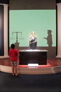 Abraham Lincoln Presidential Museum: Emancipation exhibition1: Two Worlds Treasures