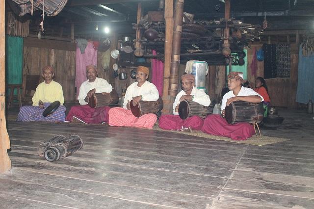 Two Worlds Treasures - traditional music performance at Wae Rebo Village, Wae Rebo, East Nusa Tenggara, Indonesia.
