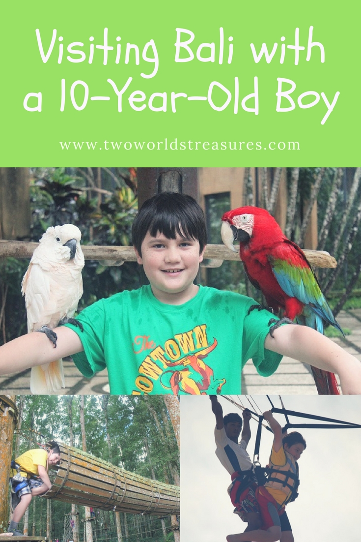 Visiting Bali with a 10-Year-Old Boy - Pinterest image - Two Worlds Treasures