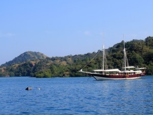 Island Hopping Flores, Indonesia - Day 1 - our sailing boat - Two Worlds Treasures