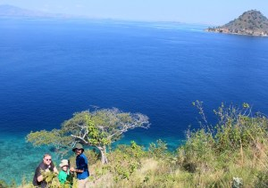 Island Hopping Flores, Indonesia - Day 1 - us at Kelor Island - Two Worlds Treasures